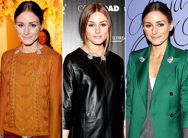 olivia-palermo brooches on People Stylewatch - saved by Chic n Cheap Living