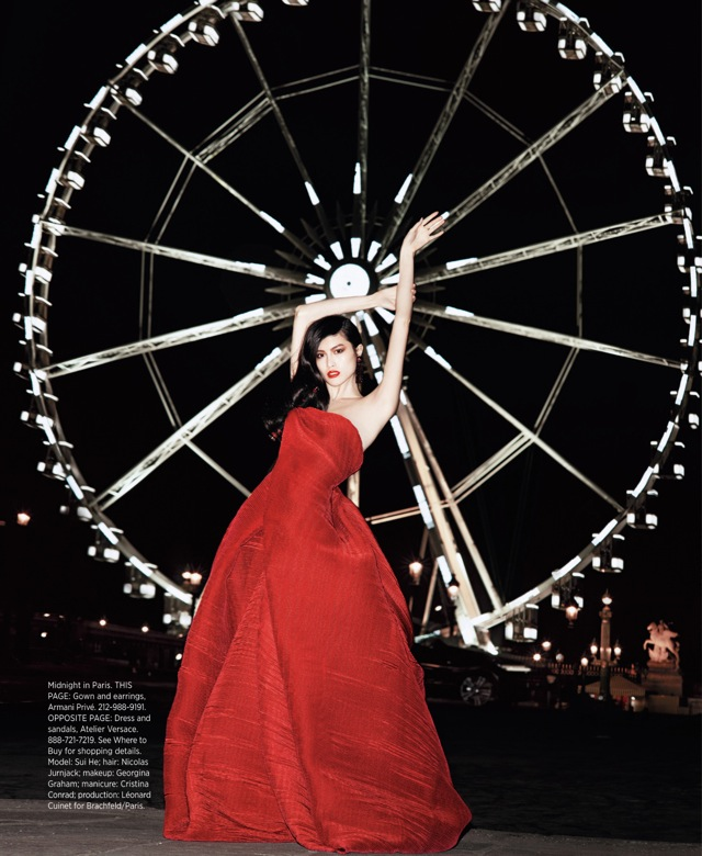 Best of Couture Armani Prive couture gown US Harpers Bazaar May 2013 - saved by Chic n Cheap Living