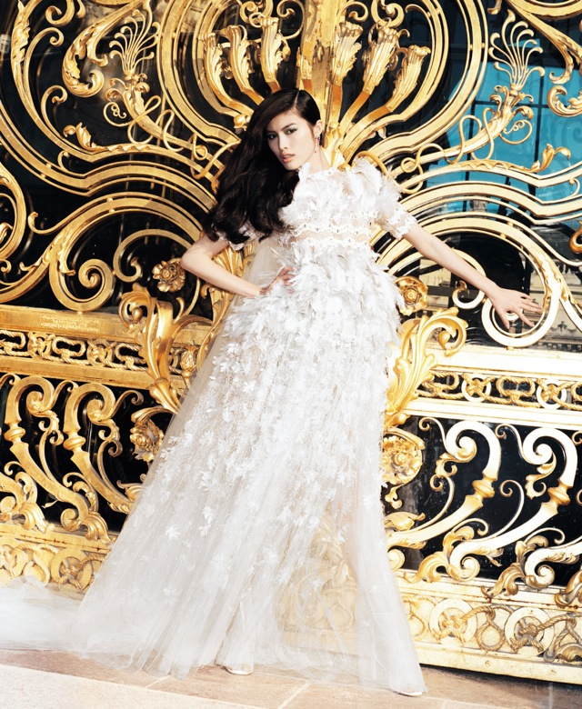 Best of Couture Chanel couture gown US Harpers Bazaar May 2013 - saved by Chic n Cheap Living