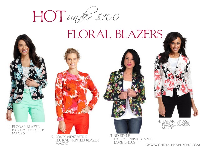 Hot under 100 - Floral blazers by Chic n Cheap Living