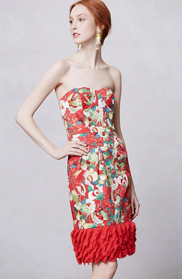 Peter Som for Anthropologie Luisa poppy dress - saved by Chic n Cheap Living