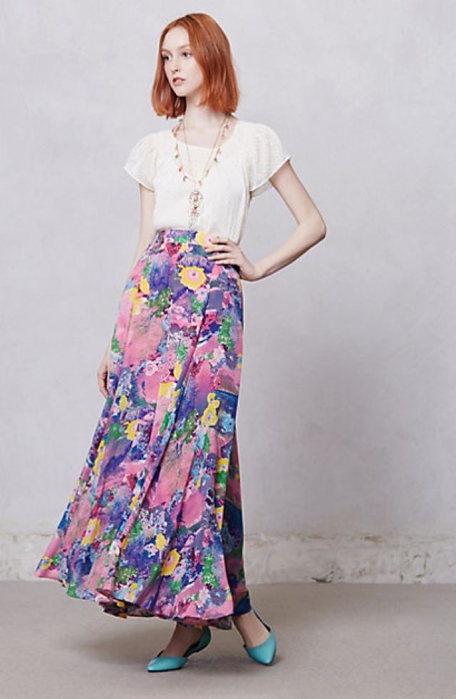 Peter Som for Anthropologie Talitha postcard skirt - saved by Chic n Cheap Living