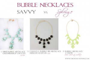 Savvy vs Splurge Bubble necklaces - by Chic n Cheap Living