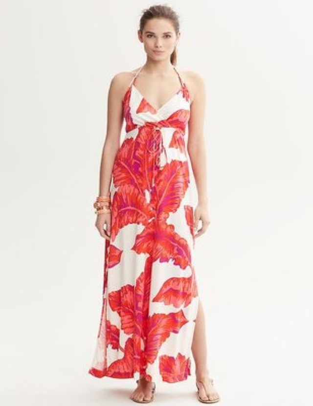 Milly Banana Republic banana leaf print dress- saved by Chic n Cheap Living