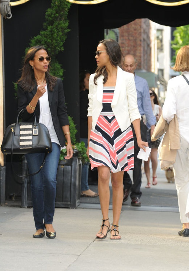 banana-republic-milly-Zoe-Saldana on Glamour.com - saved by Chic n Cheap Living