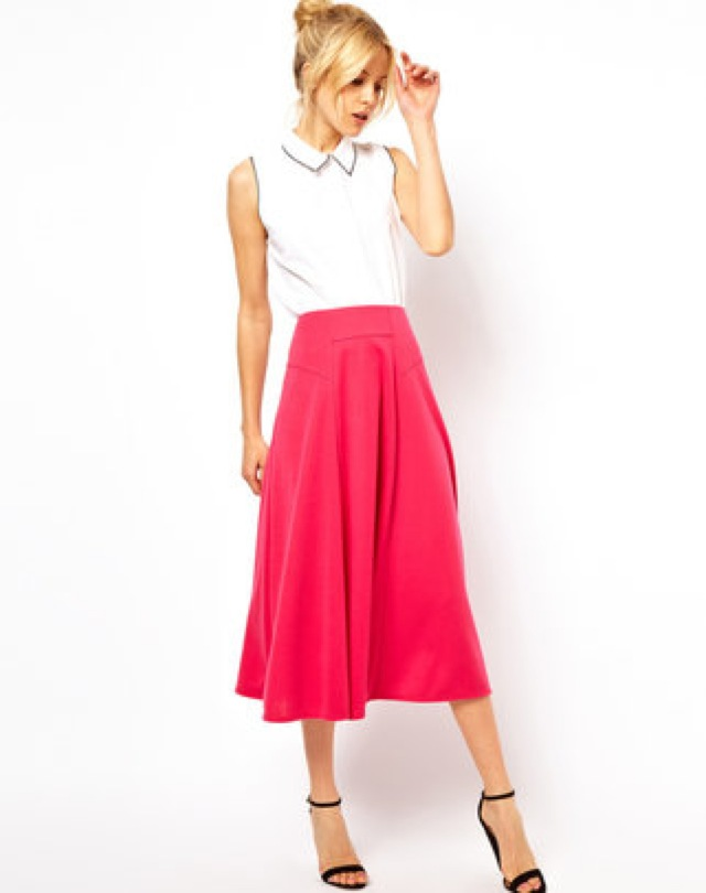 ASOS midi skirt with stitch waist detail - saved by Chic n Cheap ...