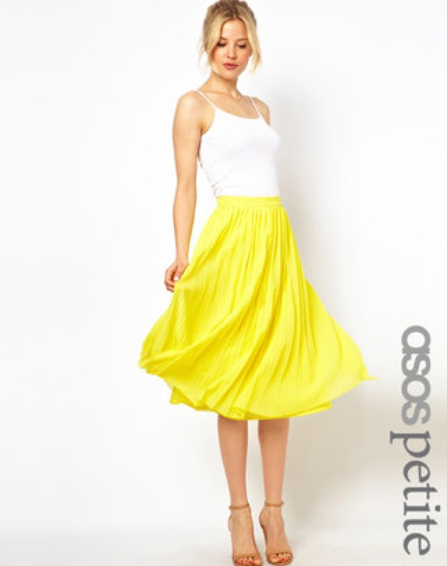 ASOS pleated midi skirt - saved by Chic n Cheap Living