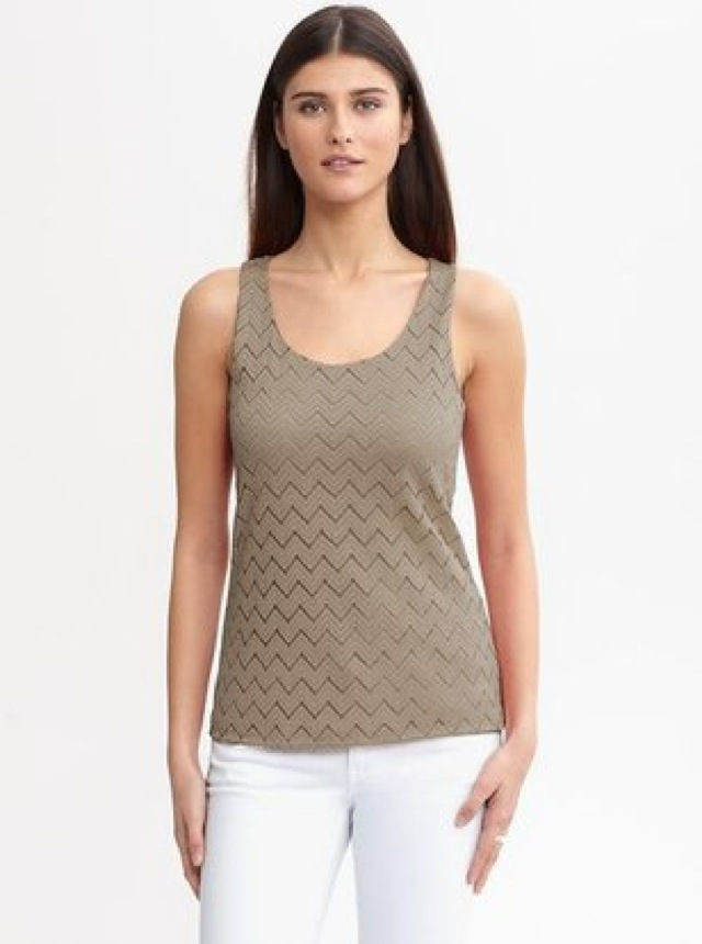 Banana Republic chevron lace tank - saved by Chic n Cheap Living