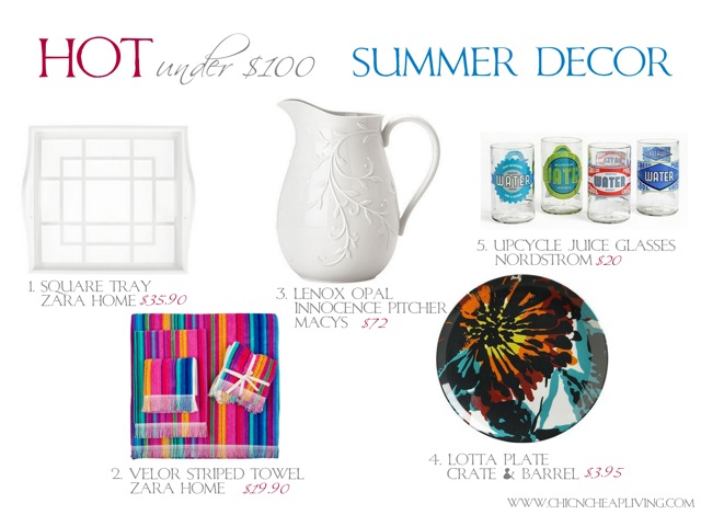 Hot under 100 Summer Decor - by Chic n Cheap Living