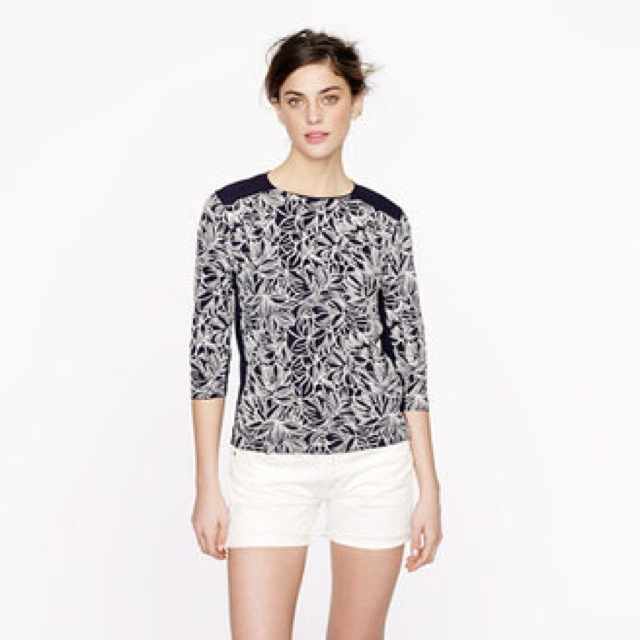 J. Crew Embroidered wildflower top - saved by Chic n Cheap Living
