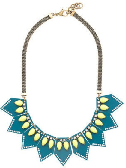 J. Crew Lulu Frost seascape necklace - saved by Chic n Cheap Living