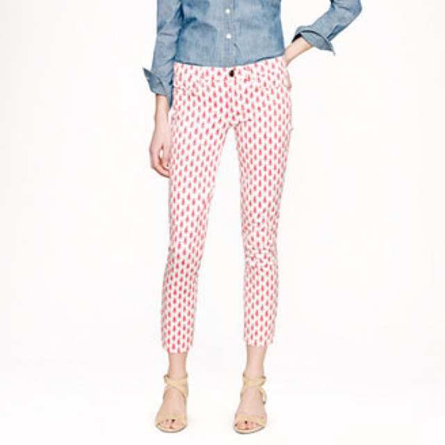 J. Crew cropped matchstick jeans in thistle print - saved by Chic n Cheap Living