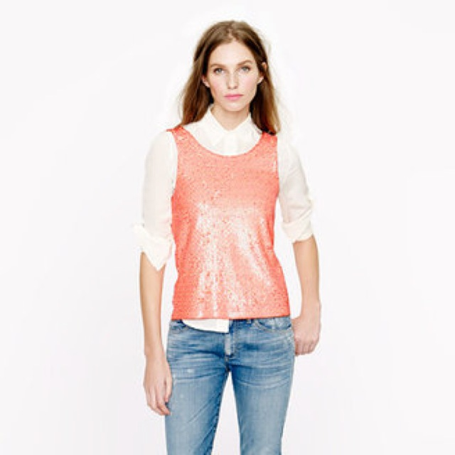 J. Crew heathered sequin top- saved by Chic n Cheap Living