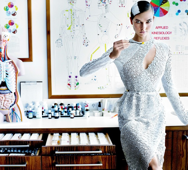 Summer fashion detox with karlie_kloss in lab -vogue_usa-july_2013 on Fashionspot -saved by Chic n Cheap Living