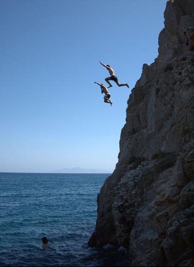Top Cliff Diving Spots On Usa Today Kamari Beach Saved