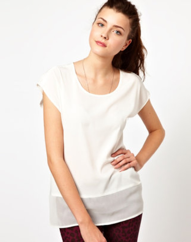 Vera Moda mesh hem t shirt - saved by Chic n Cheap Living