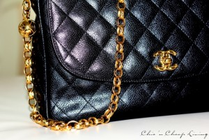 Chanel vintage camera bag close up by Chic n Cheap Living