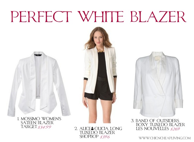 Fashion Inspiration: Olivia Palermo Christian Dior white tuxedo jacket