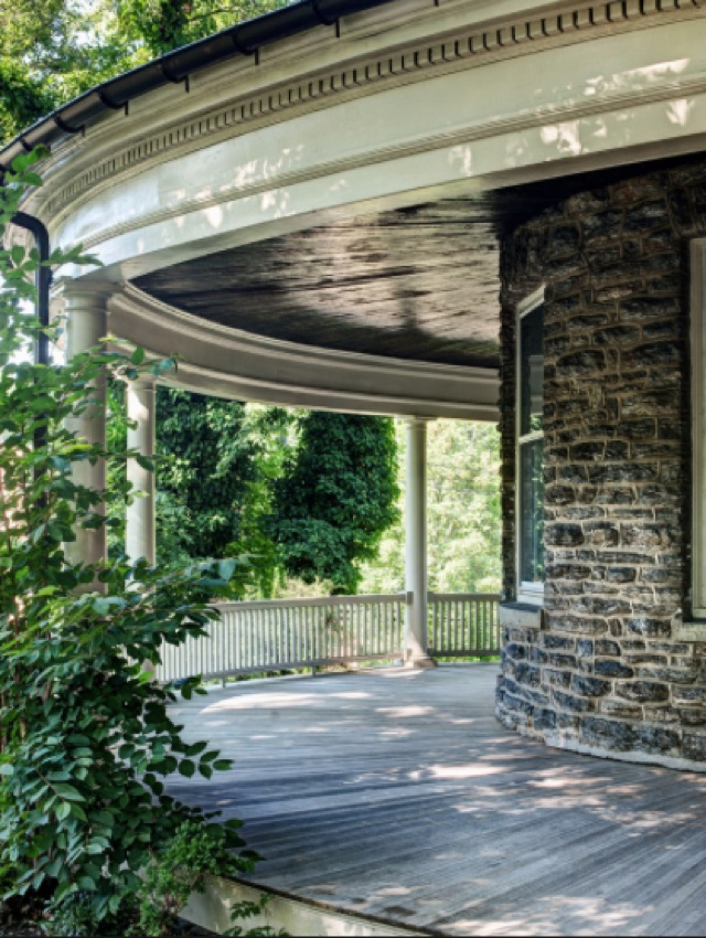 Porch in home of Nicole Juday on the NY Times - saved by Chic n Cheap Living