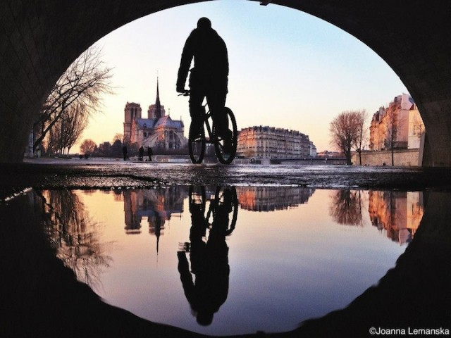 Reflections-of-Paris by Joanna Lemanska by bike - saved by Chic n Cheap Living