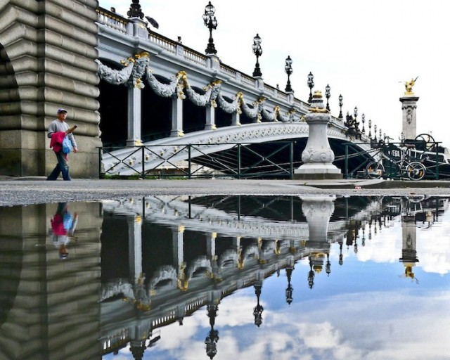 Reflections-of-Paris by Joanna Lemanska by bridge - saved by Chic n Cheap Living