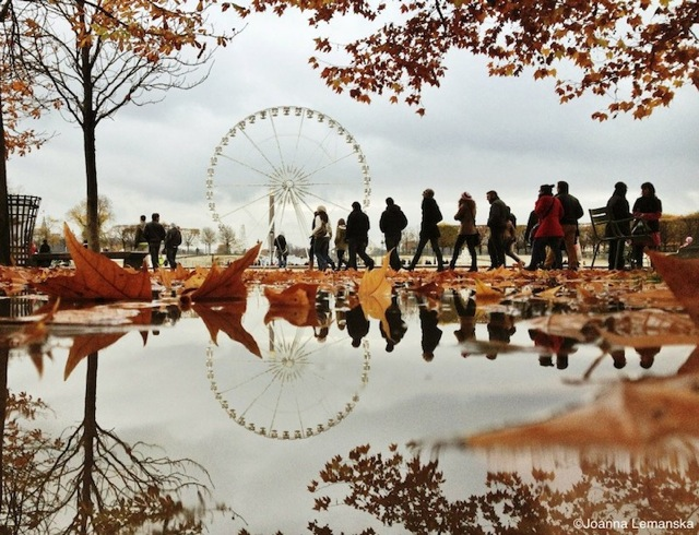 Reflections-of-Paris by Joanna Lemanska by business ferris wheel - saved by Chic n Cheap Living