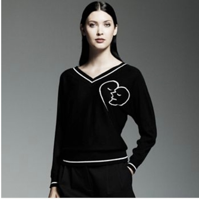 Catherine Malandrino for DesigNation Heart-Face Sweater - saved by Chic n Cheap Living