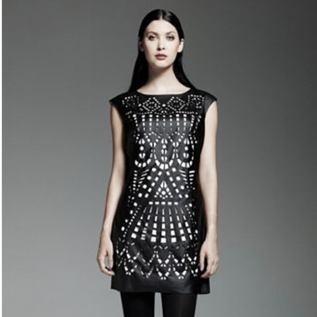 Catherine Malandrino for DesignNation Laser-Cut Shift Dress - saved by Chic n Cheap Living