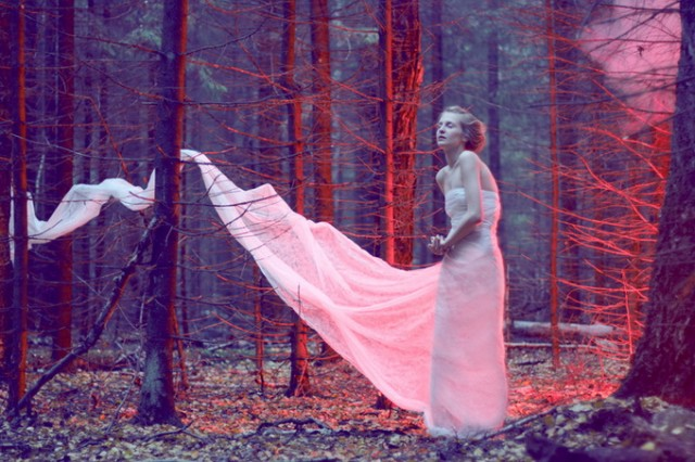 Fantasy Katerina Plotnikova Dress blowing in woods - saved by Chic n Cheap Living