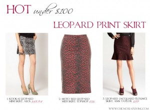 Hot under $100 Leopard print skirt by Chic n Cheap Living