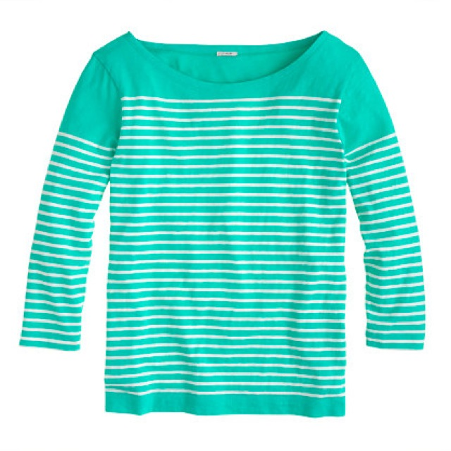 J. Crew engineered striped boatneck top - saved by Chic n Cheap Living