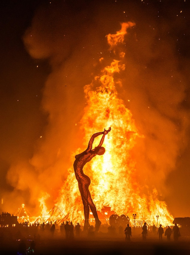 Truth is Beauty exhibit bonfire at Burning Man Festival by Marco Cochrane - saved by Chic n Cheap Living