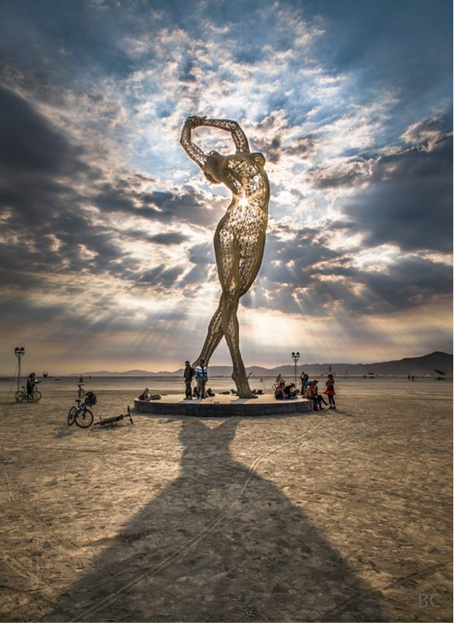 Truth is Beauty exhibit sky view at Burning Man Festival by Marco Cochrane - saved by Chic n Cheap Living