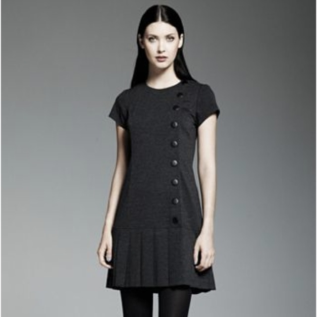 Catherine Malandrino for DesigNation Pleated Ponte Dress