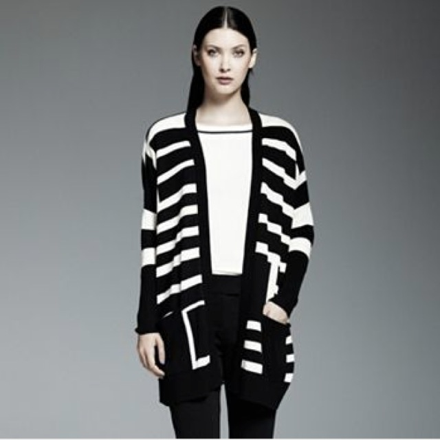 Catherine Malandrino for DesigNation Striped oversized cardigan - saved by Chic n Cheap Living