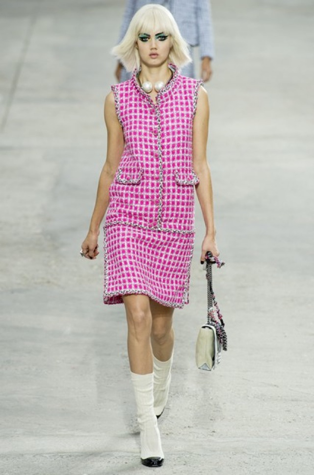 Chanel sleeveless tweed separates Paris Fashion Week SS 2014 on Vogue.com - saved by Chic n Cheap Living