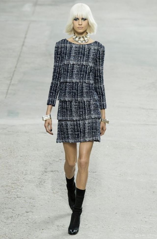 Chanel tweed dress Paris Fashion Week SS 2014 on Vogue.com - saved by Chic n Cheap Living