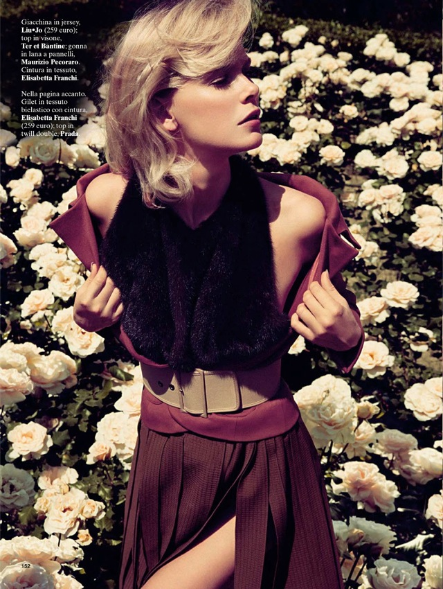 Girls & Roses Glamour Italia August 2013 Liu Jo top Elisabetta Franchi skirt - saved by Chic n Cheap Living