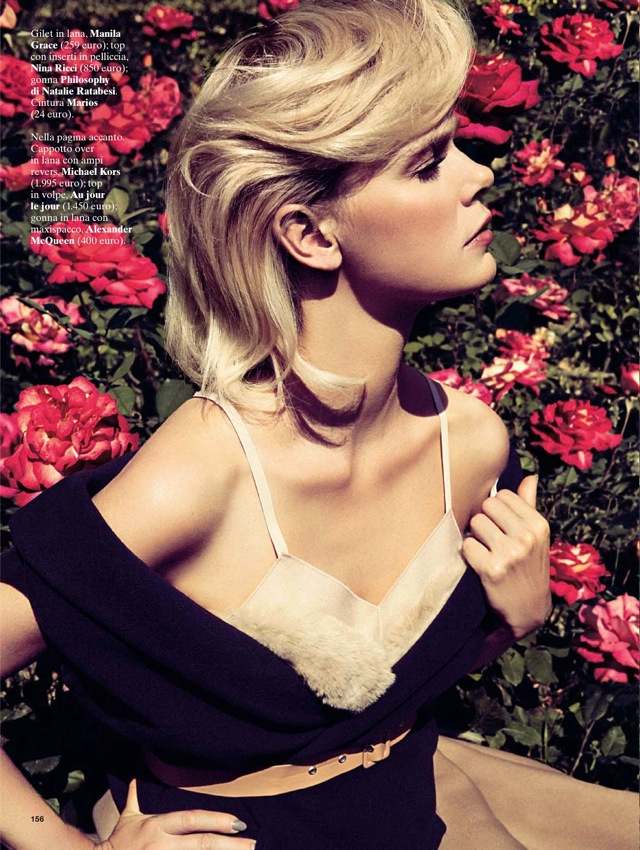 Girls & Roses Glamour Italia August 2013 Manila Grace top - saved by Chic n Cheap Living
