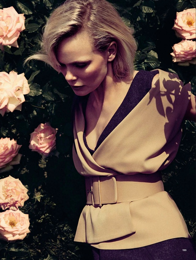 Girls & Roses Glamour Italia August 2013 beige top - saved by Chic n Cheap Living