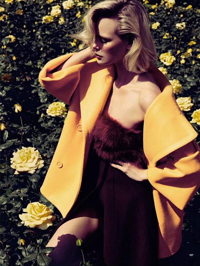 Girls & Roses Glamour Italia August 2013 yellow top - saved by Chic n Cheap Living