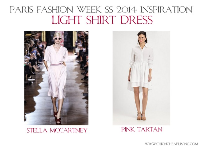 Light shirt dress Paris Fashion Week SS 2014 Fashion Inspiration by Chic n Cheap Living