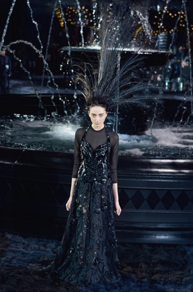 Louis Vuitton gown Paris Fashion Week SS 2014 on Vogue.com - saved by Chic n Cheap Living