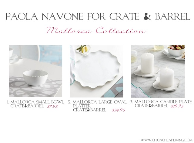 Paolo Navone For Crateu0026Barrel Mallorca Picks   By Chic N Cheap Living