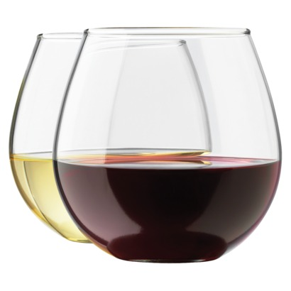 Target Vineyard reserve stemless wine glass set - saved by Chic n Cheap Living