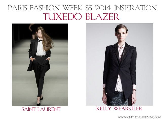 Tuxedo blazer Paris Fashion Week SS 2014 Inspiration by Chic n Cheap Living