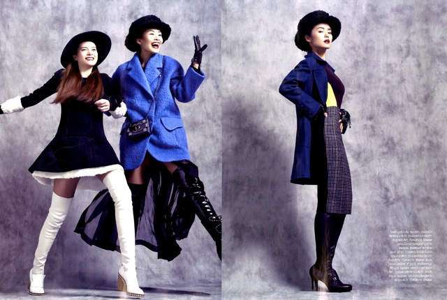 Friends Harper's Bazaar with short coats - saved by Chic n Cheap lIVING