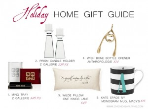 Holiday 2013 Home gift guide by Chic n Cheap Living