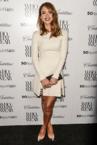 Jessica Alba in Wes Gordon white dress - saved by Chic n Cheap Living