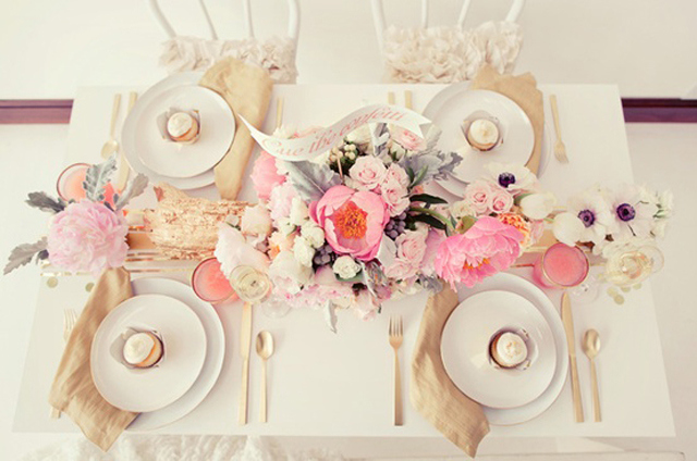 gold-flatware table setting - saved by Chic n Cheap Living